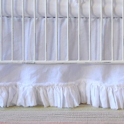 Crib Skirt White 49