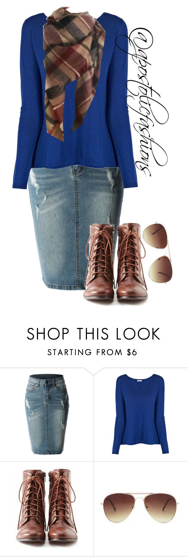 """Apostolic Fashions #909"" by apostolicfashions on Polyvore featuring LE3NO, American Vintage, Liz Claiborne and Forever 21"