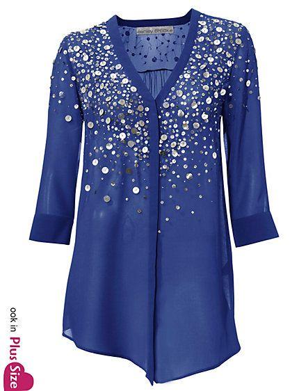 Koop Ashley Brooke - Tuniek met pailletten indigoblauw in de Heine online-shop