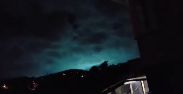 11/14/2016 - Mysterious green and blue flashes appeared as New Zealand earthquake struck - https://en.wikipedia.org/wiki/Earthquake_light