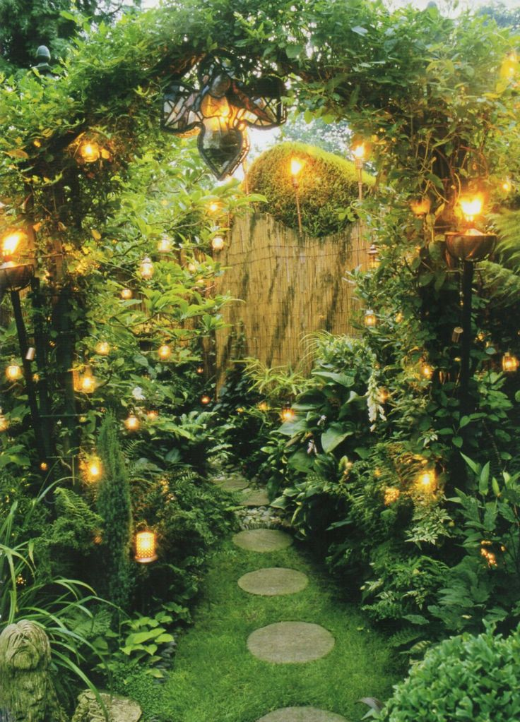 A secret path... (from the book The Twilight Garden by Lia Leendertz):