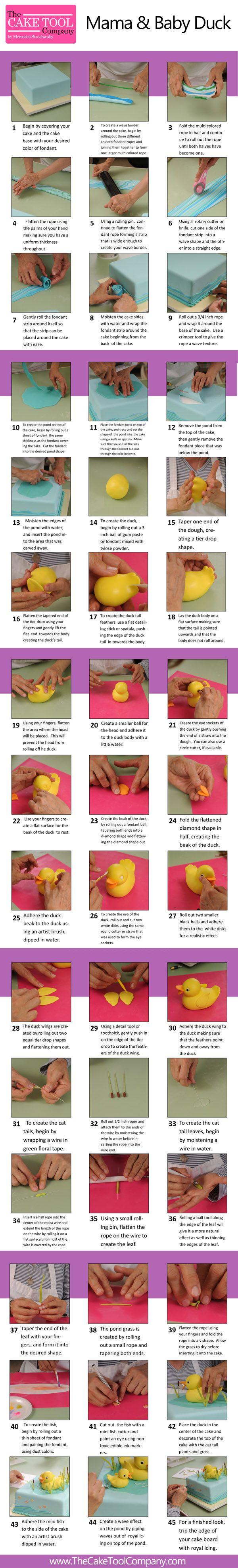mama baby duck fondant tutorial