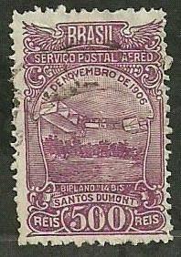 Selo Santos Dumont - Serviço Postal Aéreo - Déc 30