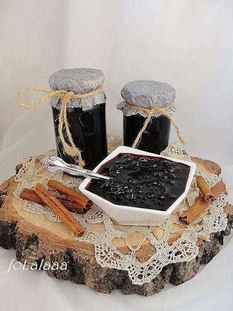 Ala piecze i gotuje: Konfitura borówkowa z szampanem i cynamonem
