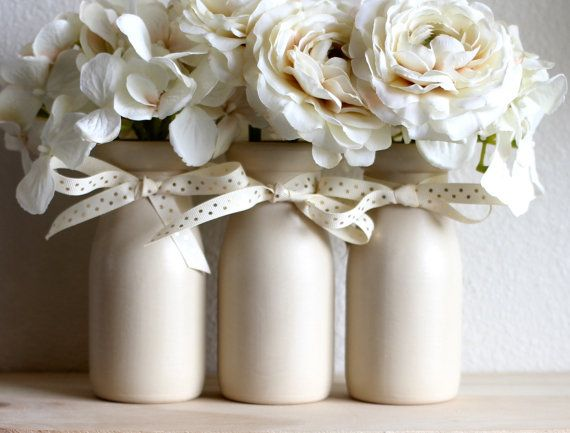 Baby Shower Centerpiece Gender Neutral Beige and Gold Home