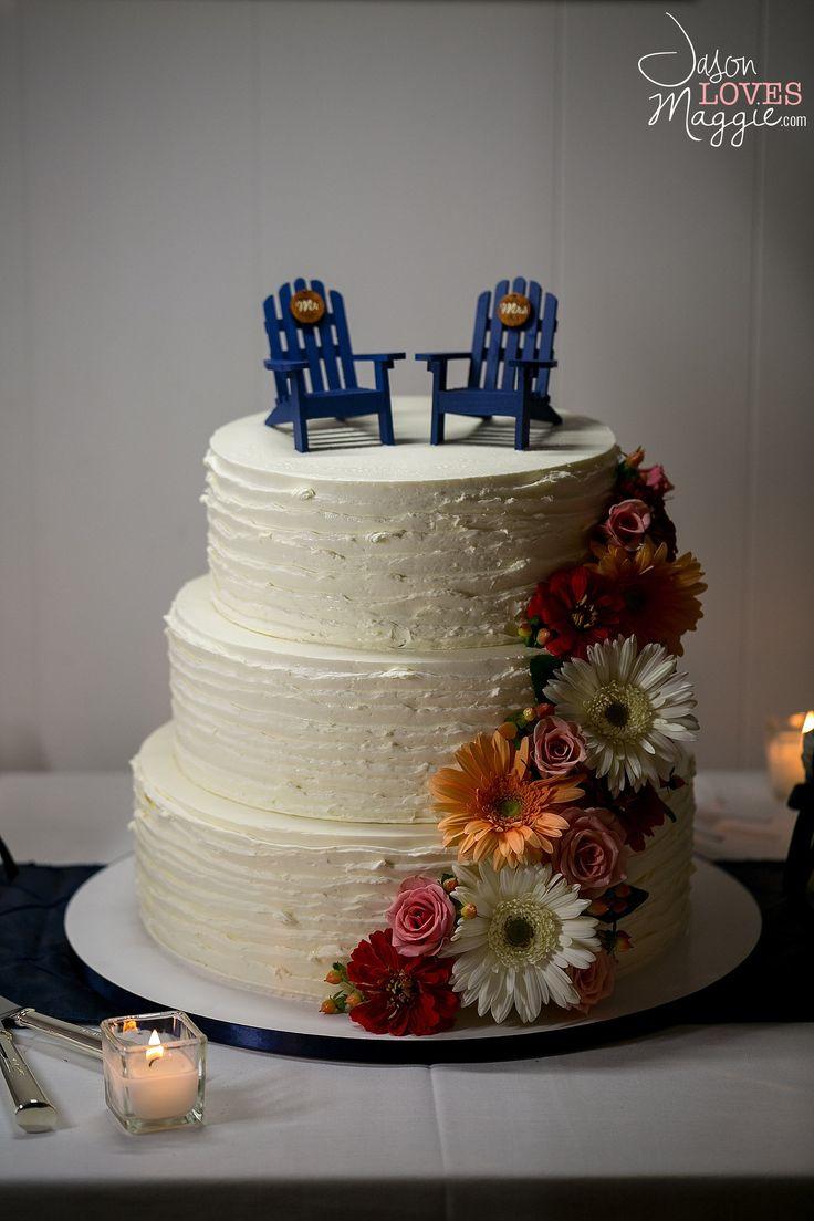 Beach Wedding Cake, wedding details. Photo by Jason Loves Maggie, Photographers. #weddingcake #weddingday #details #weddingphotography #connecticutwedding #intimate #playful #spontaneous #jasonlovesmaggie