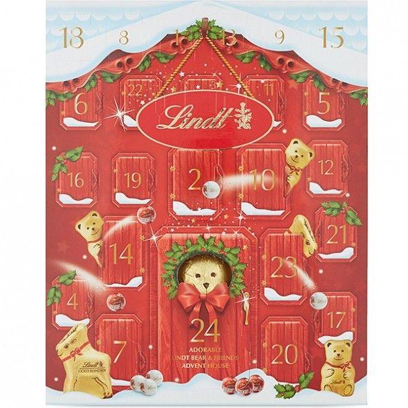 Lindt advent calendar (you get a full sized chocolate bear on Christmas Eve!)