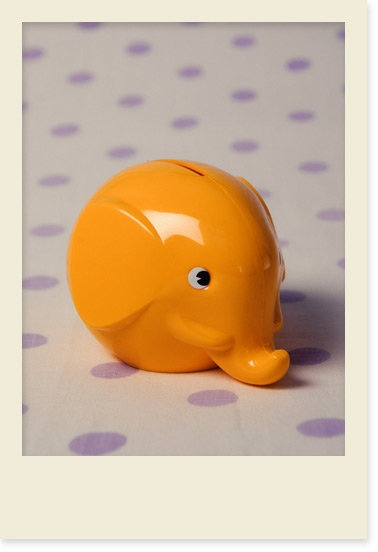 Finnish design Elephant piggy bank