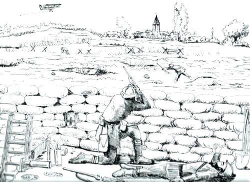 Coloriage Soldats Seconde Guerre Mondiale Sans Fin Anime