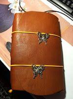 Handgemaakt leren dagboek door Chrissie