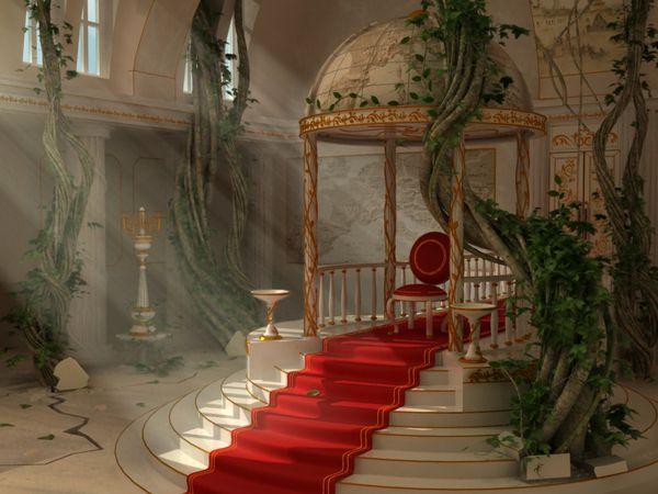 throne room fantasy rooms medieval skopa behance minecraft royal viktor castle via chair anime palace places