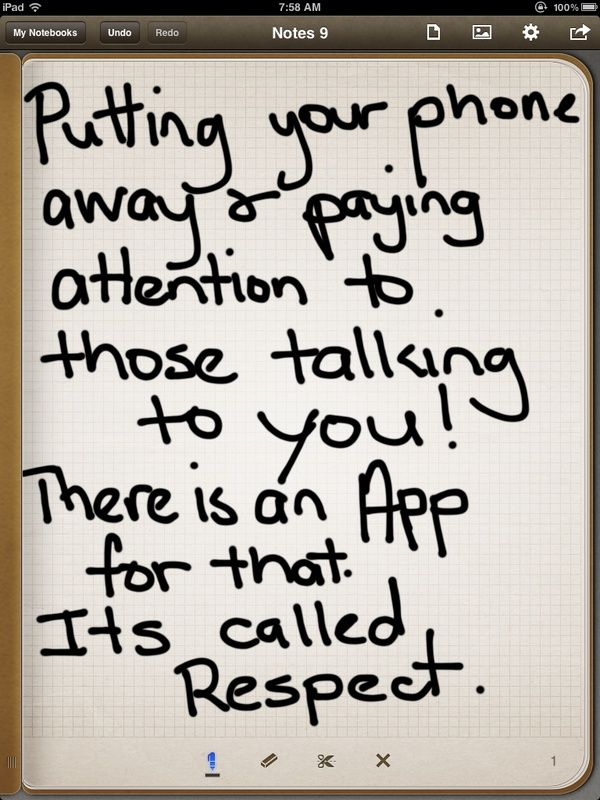 Your thoughts on this? Do you just hate it when talking to people and they are just busy texting or whatever ... just not taking notice of you?   www.facebook.com/...