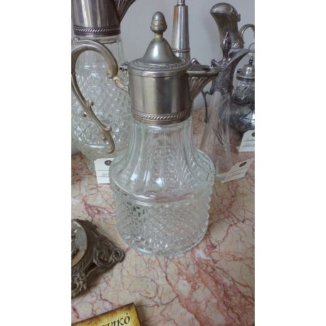 Sheraton Carafe Silver plated & Glass
