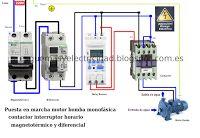 Esquemas eléctricos: Puesta en marcha de motor bomba presión