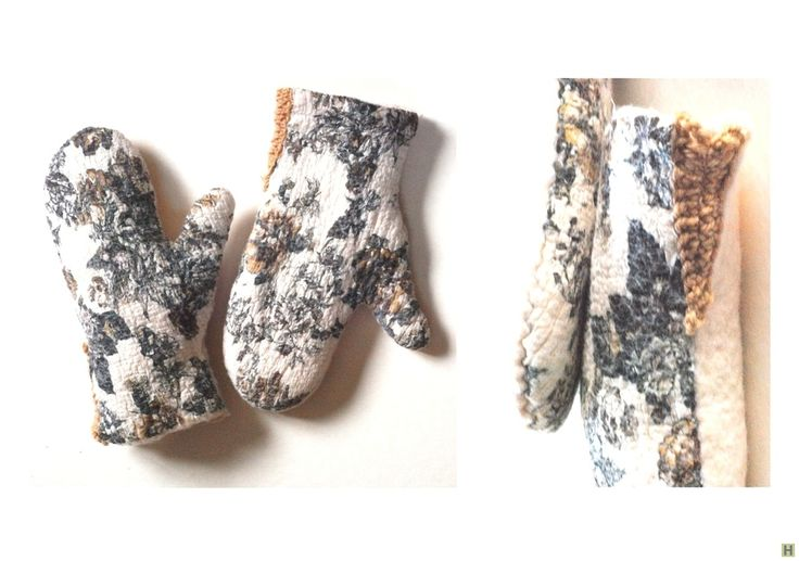 Белые варежки (нуновойлок) купить недорого в интернет магазине товаров ручной работы  HandClub.ru  теплые и мягкие варежки,созданы вру4ную в технике нуно-войлок(ткань+шерсть)использованы  только натуральные волокна мериноса и шелк натуральный  сбоку вшит вязанный треугольник для большего облегания руки  25х10см палец-6см возможно выполнение по вашим размерам(и на деток)   варежки входят в серию цвета молока:шарф-труба или снуд,наушники,сумка,шапка