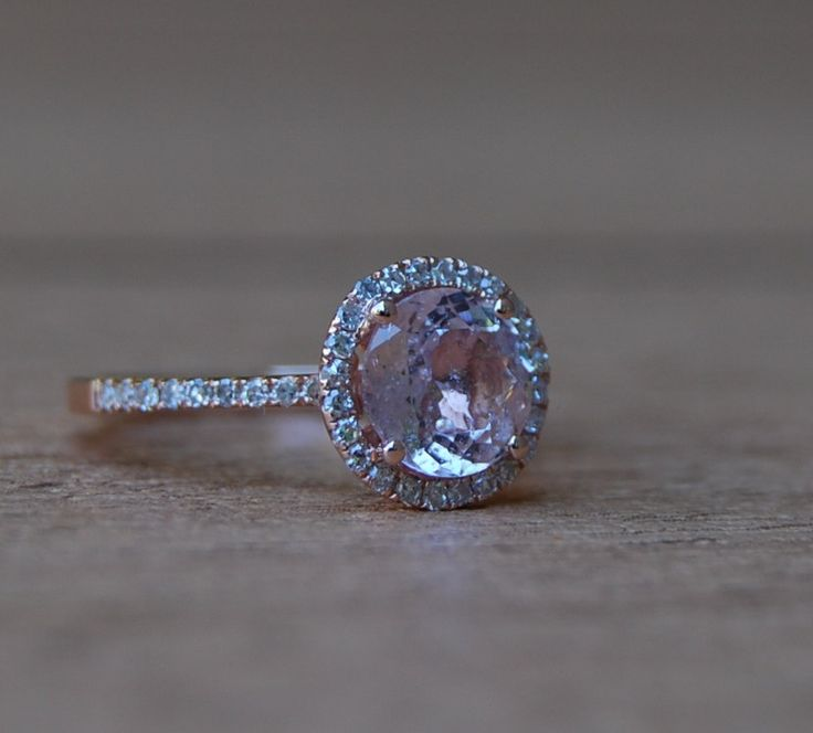 Best 25 champagne sapphire rings ideas on pinterest peach 176ct round peach sapphire champagne sapphire ring diamond ring 14k rose gold engagement ring junglespirit Images