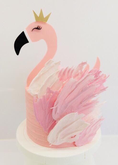 Flamingo Cake by elinor