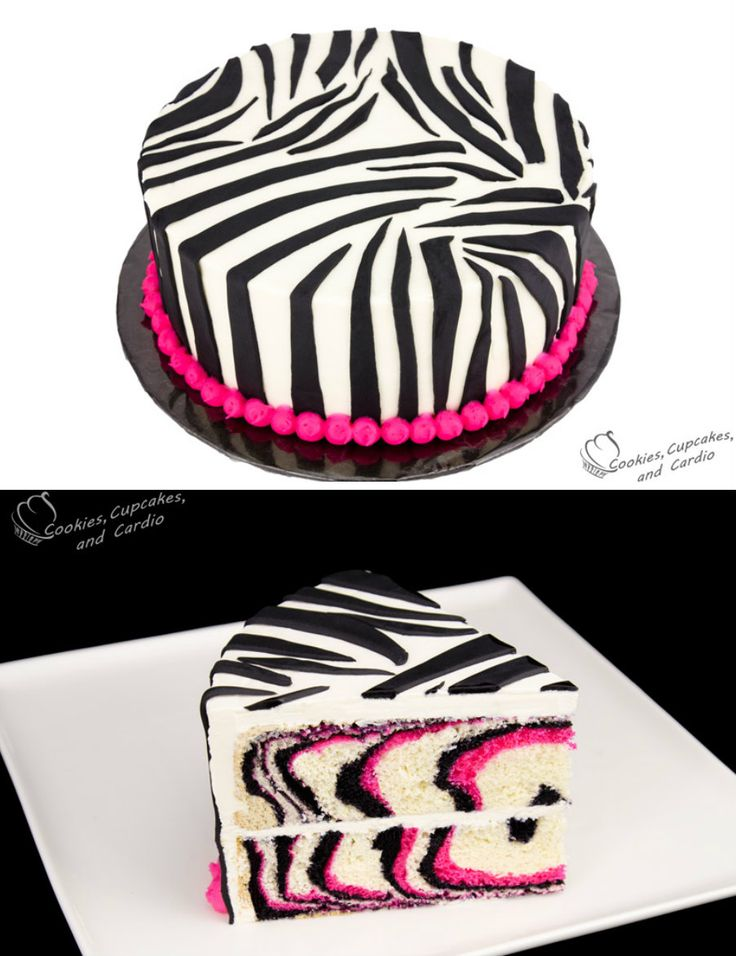 Pink Zebra Cake, video tutorial