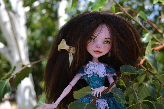 Ella Woods in her treehouse, via Flickr.