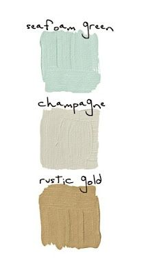 Sea foam green for the bedroom wall? With champagne on the roof, and rustic gold details?