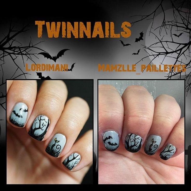 """FIL Twinnails Novembre """"Halloween + Stamping"""" avec @mamzelle_paillettes"""