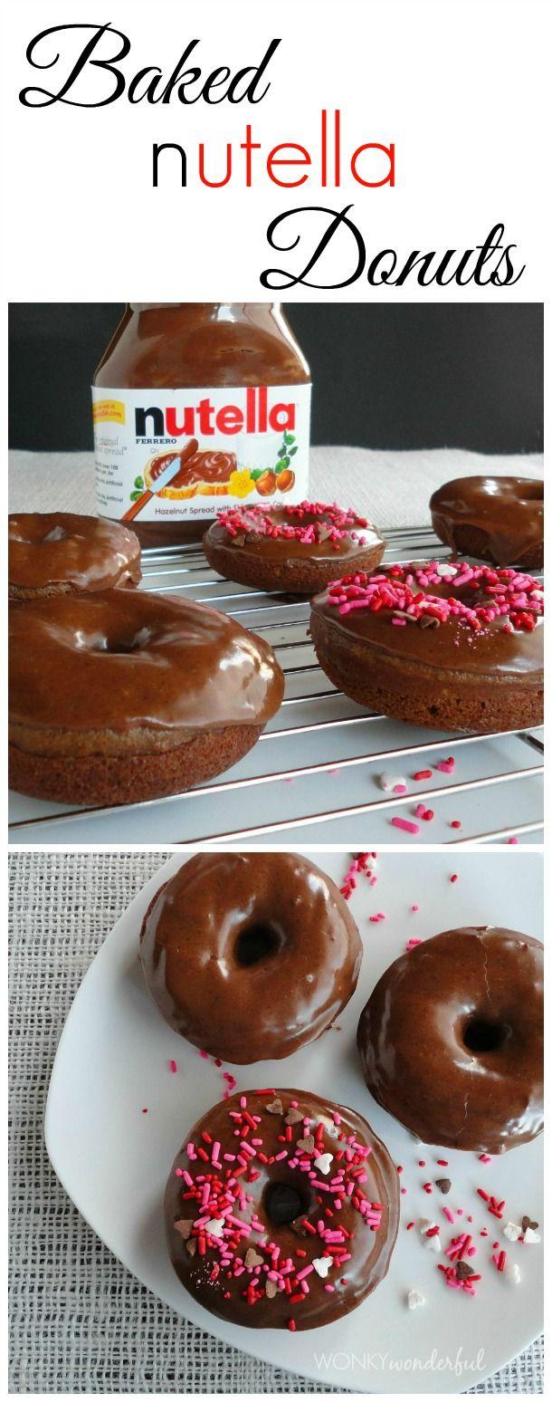 Baked Nutella Donuts - doughnut recipe - wonkywonderful.com