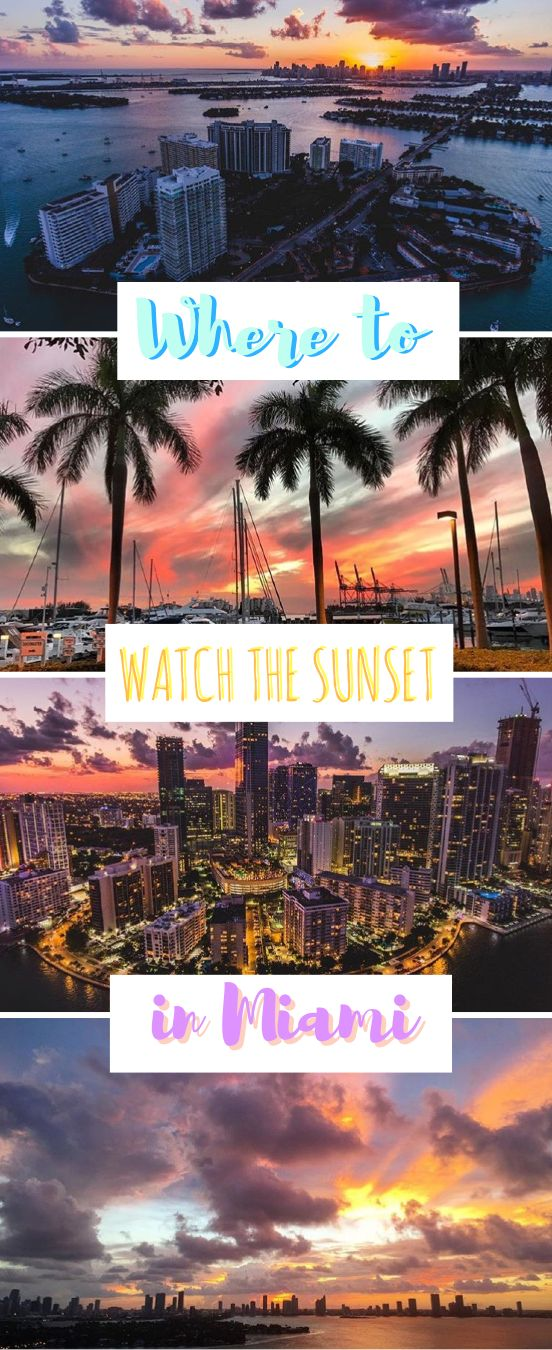 Who doesn't love a beautiful sunset? During my time in Miami, I couldn't help but chase the sunsets every night. I'll tell you my secret spots to watch the sunset in Miami, Florida. You'll be speechless and super excited to go capture some of your own. Make sure you save this pin to your travel board so you can find it later!
