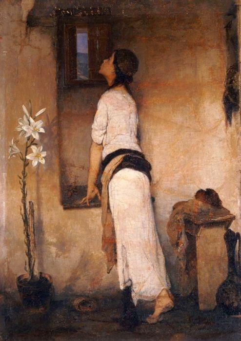 Nikiforos Lytras - Waiting, 1894