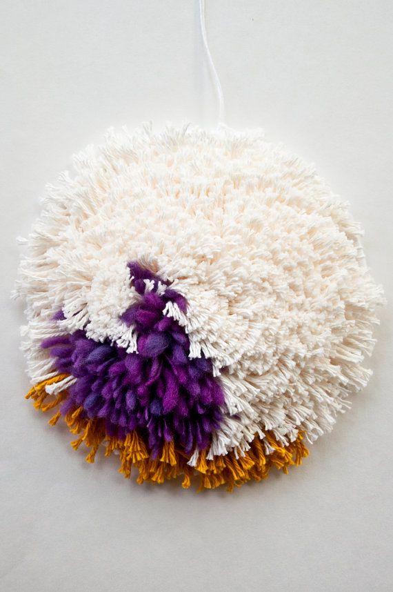 Couleur intérieur | Tapisserie murale tissage fibre Textile Art Home Decor tissé à la main sous 50 coloré Texture cercle tissé décoration murale