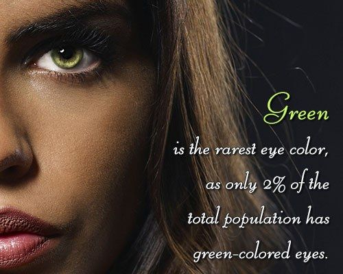 Fact about green eyes: Only 2 percent of people have green eyes! ;-)