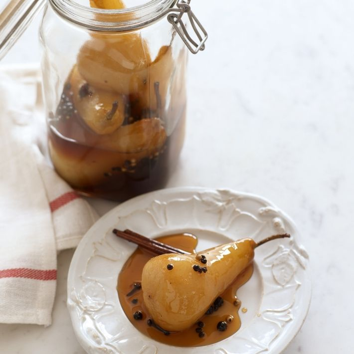 Happy spiced pickled pears
