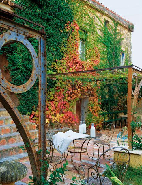 #excll #дизайнинтерьера #решения Загородный дом в стиле рустик шик