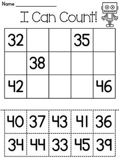 Number sense cut and pastes! Great for number sense - ordering numbers on a 100 or 120 chart