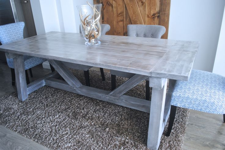 7' Truss Beam Table - Custom Stain - The Rugged Rooster