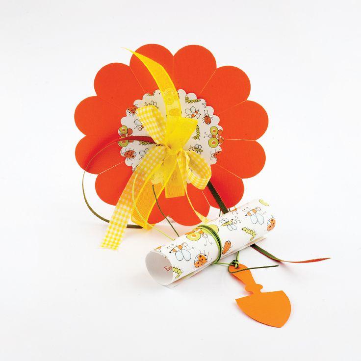Flower Handmade Girl Invitation
