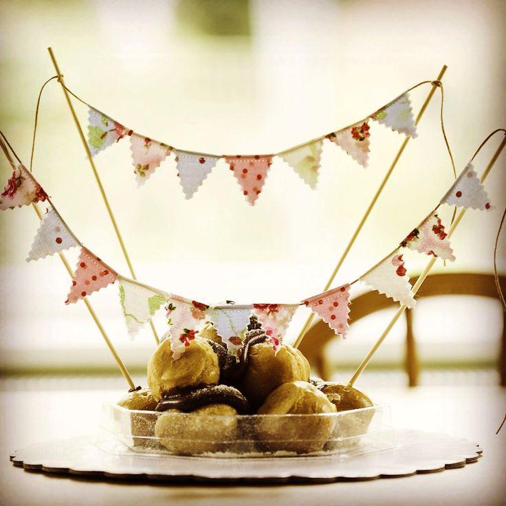 Cake topper, mini bunting, mini banner, cake bunting, cake banner, cake decoration, wedding cake topper, birthday cake topper