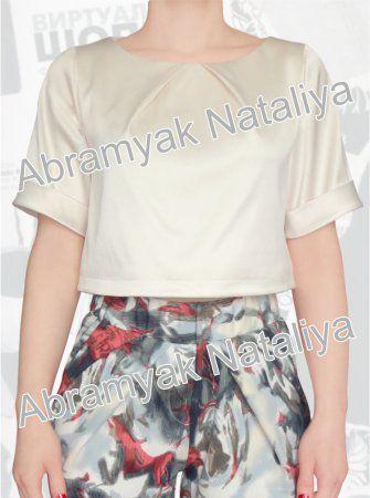 25$ Короткая блуза свободного кроя большого размера Артикул 950, р50-64