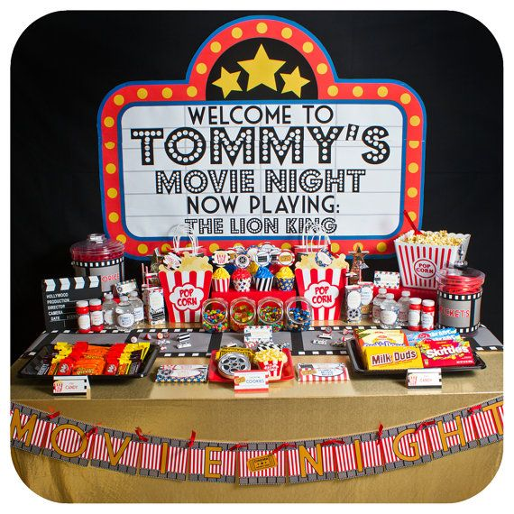Movie Night; Movie Night Party; Movie Night Birthday Party; Movie Night Birthday Party