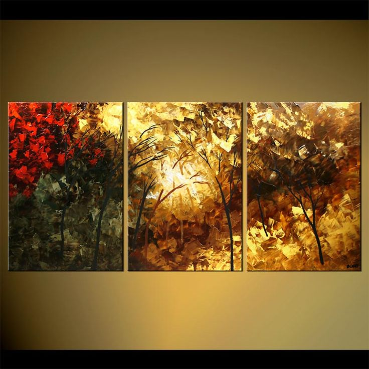 Contemporary Landscape Painting - In the Forest of Light