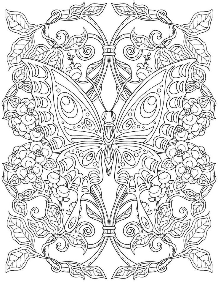 Butterfly Mandala Coloring Pages butterfly Mandala ...