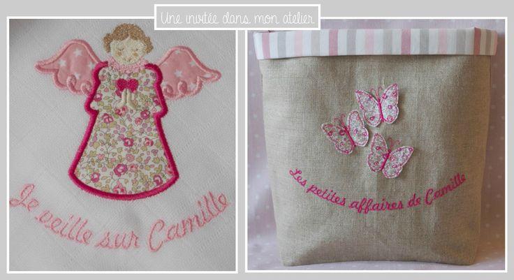coffret-cadeau-naissance-fille-Liberty eloise rose-panier à jouets personnalisé-lange personnalisé