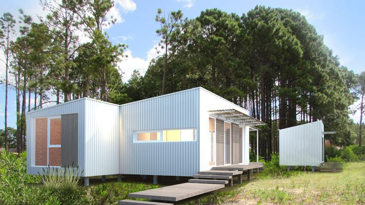 Casa Cronos. Pinamar. Steel Frame. Moirë estudio de arquitectura contemporánea.