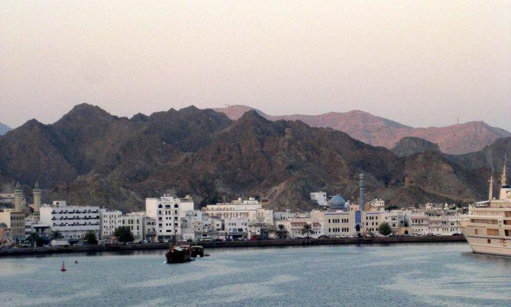 Einfahrt in den Hafen von Muscat