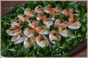 Vejce s lososovou pěnou