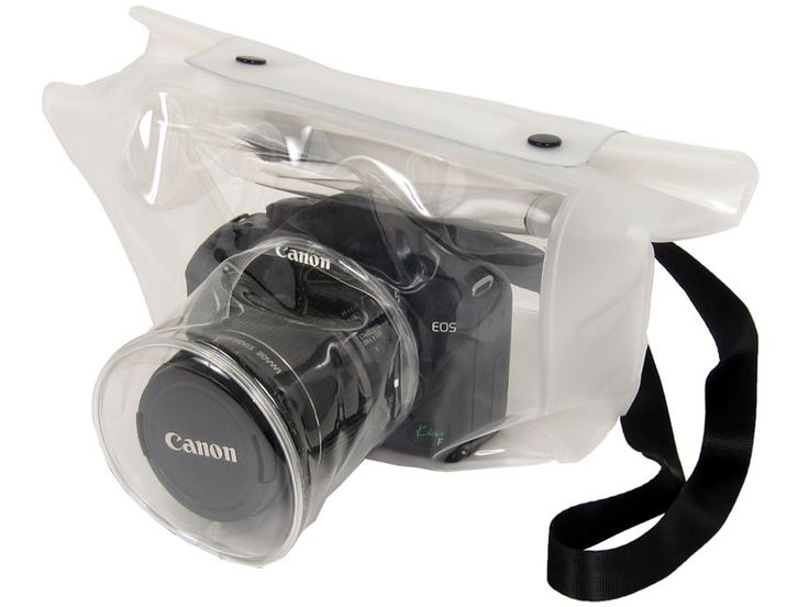 Let's take pictures in a rainy day. Transparent DSRL camera bag. Nice! LOL Reminds me of a camera condom. Double bag it! :)) Unless they want to reproduce.. ;) Ha