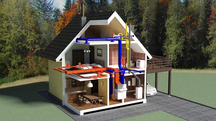 Тепловой расчет системы отопления | В ходе строительства собственного дома следует со всей возможной серьезностью отнестись к тепловому расчету системы отопления. Наиболее простая схема предполагает прямую зависимость мощности радиаторов от площади и состав