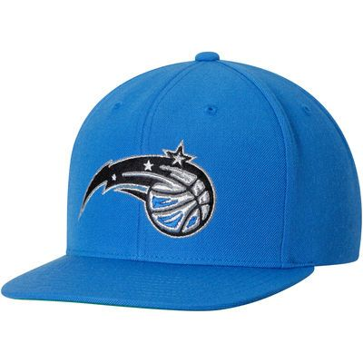 Men's Mitchell & Ness Blue Orlando Magic Current Logo Wool Solid Snapback Adjustable Hat
