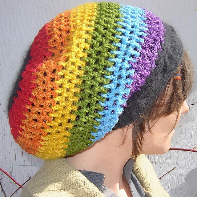 Free Rainbow Tam Crochet Pattern Rainbow Crochet