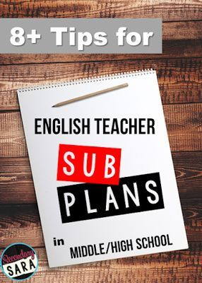 Blog Post - Tips for middle/ high school English teachers and low-stress sub plans, even at the last minute!