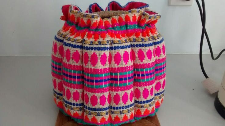 Teapot cosy I made with Mexican woven fabric.